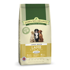 James Wellbeloved Junior Large Breed With Lamb And Rice 4kg To 2 X 15kg