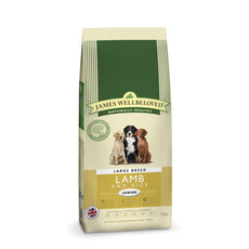 James Wellbeloved Junior Large Breed With Lamb And Rice 15kg