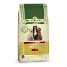 James Wellbeloved Adult Large Breed With Lamb And Rice 4kg To 2 X 15kg