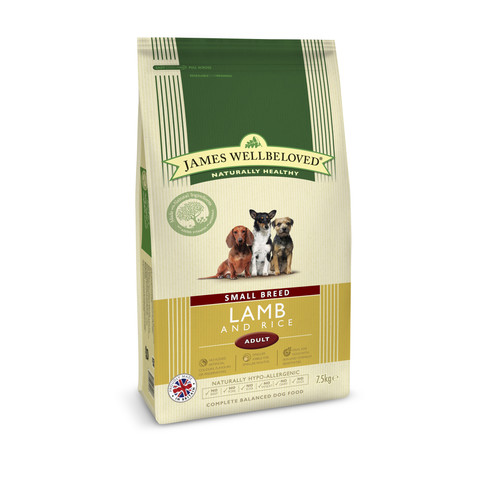 James Wellbeloved Adult Small Breed With Lamb And Rice 1.5kg To 7.5kg