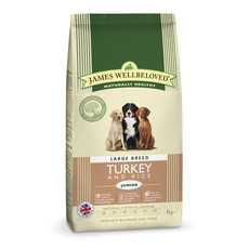 James Wellbeloved Junior Dog Large Breed With Turkey And Rice 4kg To 2 X 15kg