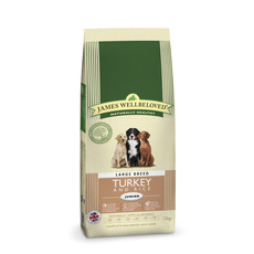 James Wellbeloved Junior Dog Large Breed With Turkey And Rice 15kg