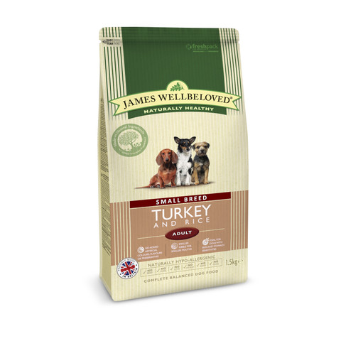 James Wellbeloved Adult Small Breed With Turkey And Rice 1.5kg To 7.5kg