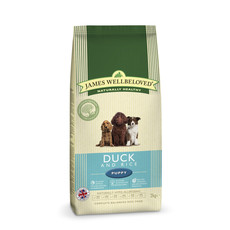 James Wellbeloved Puppy With Duck And Rice 2kg To 2 X 15kg
