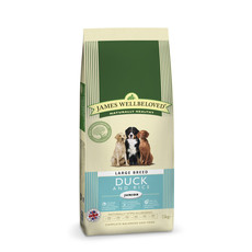 James Wellbeloved Junior Large Breed With Duck And Rice 15kg