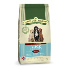 James Wellbeloved Adult Large Breed With Duck And Rice 4kg To 2 X 15kg