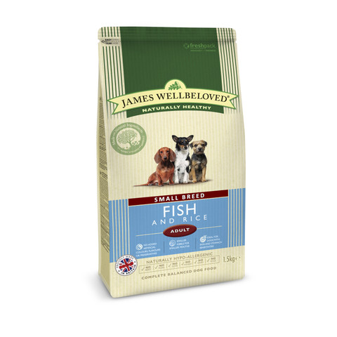 James Wellbeloved Adult Small Breed With Fish And Rice 1.5kg To 7.5kg