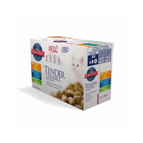 Hills Science Plan Pouches Chunks In Gravy Kitten Multipack 12 X 85g