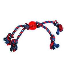 Quad Tug Rope Ball Dog Toy 40cm