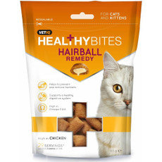 Mark And Chappell Vetiq Healthy Bites Hairball Remedy Cat Treats 65g