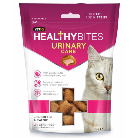 Mark And Chappell Vetiq Healthy Bites Urinary Care Cat Treats 65g