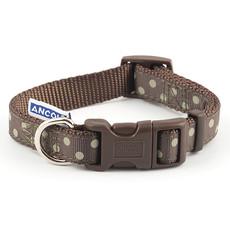 Ancol Indulgence Fashion Vintage Mocha Polka Dot Adjustable Dog Collar Small To Large