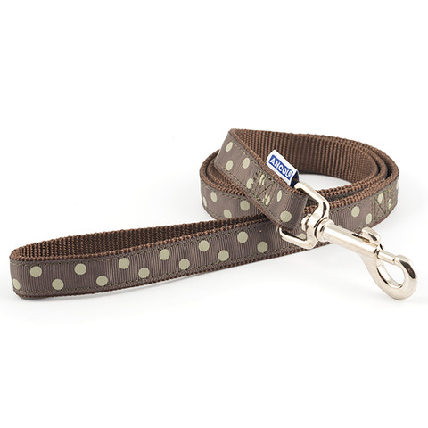 Ancol Indulgence Fashion Vintage Mocha Polka Dot Dog Lead 1m X 19mm