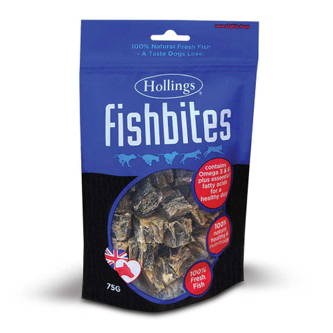 Hollings Fish Bites Dog Treat 75g To 8 X 75g