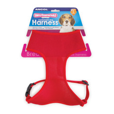 Ancol Comfort Fit Mesh Dog Harness In Red Small