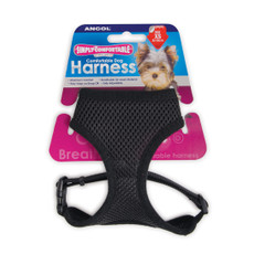 Ancol Comfort Fit Mesh Dog Harness In Black Large