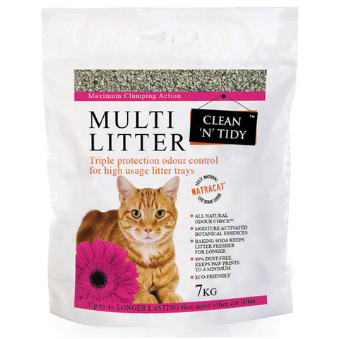 Clean N Tidy Multi Cat Scented Clumping Cat Litter 7kg