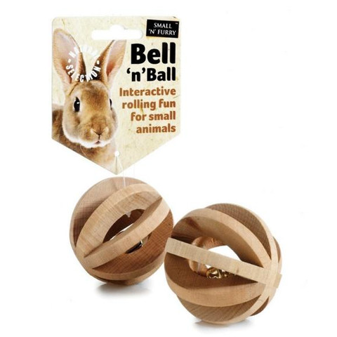 Small N Furry Naturals Ball'n'bell Small Animal Toy