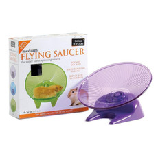 Small N Furry Silent Flying Saucer Exercise Toy Medium