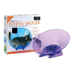 Small N Furry Silent Flying Saucer Exercise Toy Large