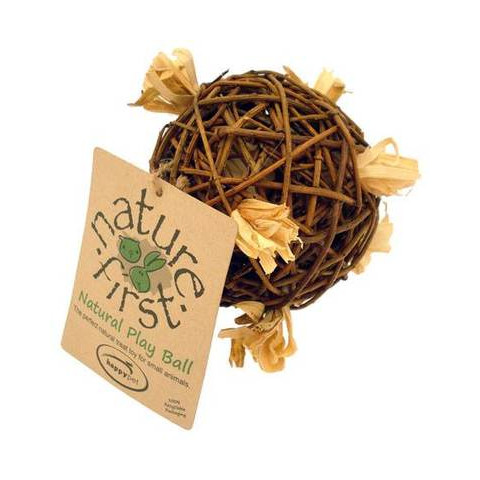 Happy Pet Nature First Willow Play Ball Small