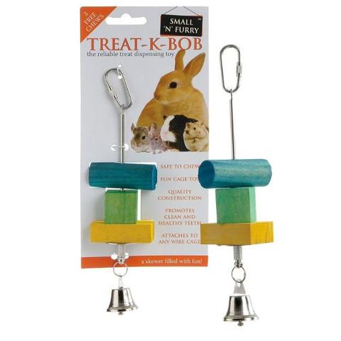 Small N Furry Treat-k-bob Treat Dispensing Stick