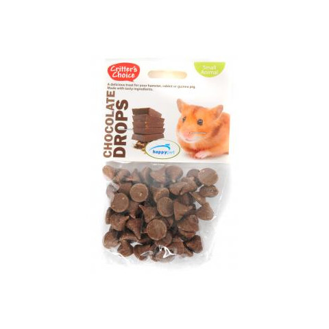 Happy Pet Critters Choice Small Animal Chocolate Drops Treat 75g To 6 X 75g