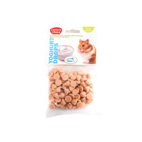 Happy Pet Critters Choice Small Animal Yoghurt Drops Treat 75g To 6 X 75g