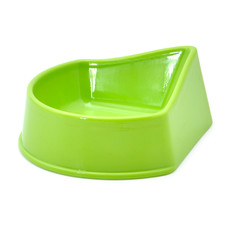 Ancol Small Animal Corner Feeding Dish In Green Medium