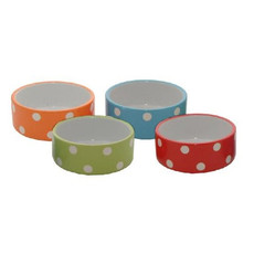 Mason Cash Brights Polka Dot Small Animal Bowl 3.5in To 12 X 3.5in