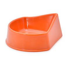 Ancol Small Animal Corner Feeding Dish In Orange Medium