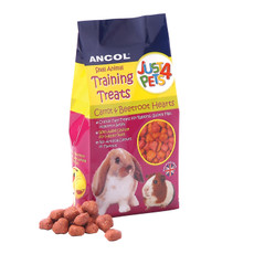 Ancol Small Animal Training Treats Carrot And Beetroot Hearts 90g To 8 X 90g