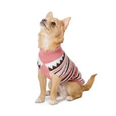 Ancol Muddy Paws Alpine Knit Pink Dog Sweater Small