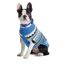 Ancol Muddy Paws Alpine Knit Blue Dog Sweater Small