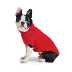 (d) Ancol Muddy Paws Red Cable Knit Dog Sweater Xx Small