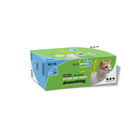 Van Ness Drawstring Cat Litter Cat Pan Liners Value Pack Extra Giant