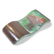 Van Ness Cardboard Cat Scratch And Relax Wavy Pad