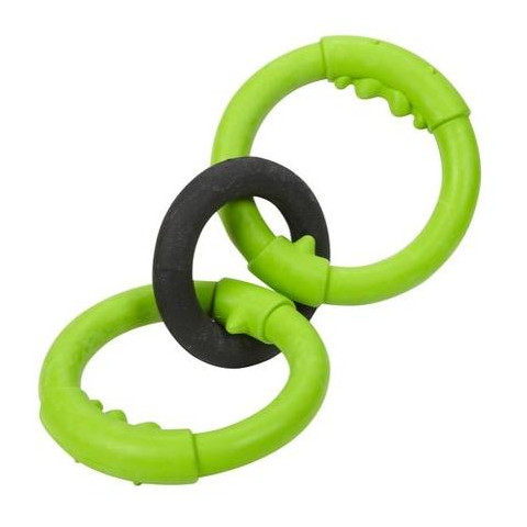 Jw Pet Big Mouth Rings Durable Rubber Dog Toy Large