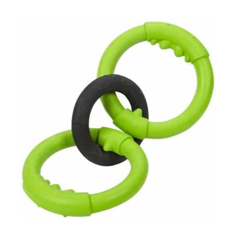 Jw Pet Big Mouth Rings Durable Rubber Dog Toy Small