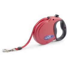 Ancol Viva Red Extending 5 Metre Tape Dog Lead Medium