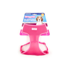 Ancol Comfort Fit Mesh Dog Harness In Pink Large