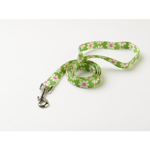 "Yellow Dog Design Floral Green Daisy Dog Lead 48""x3/8"""