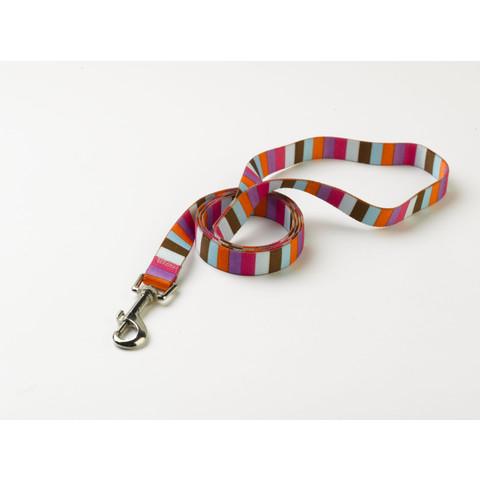 "Yellow Dog Design Multi Stripe Circles Dog Lead 48""x1"""