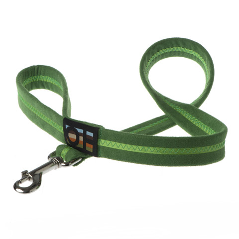 Oscar & Hooch Suedette Apple Green Dog Lead Small