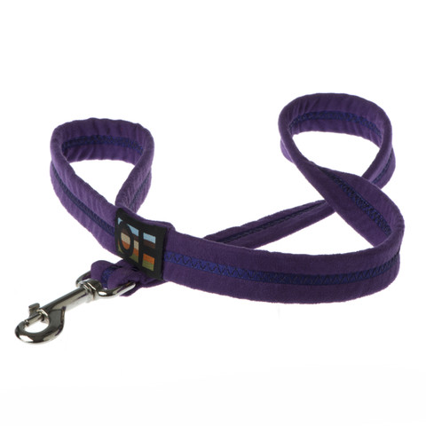 Oscar & Hooch Suedette Liberty Purple Dog Lead Small