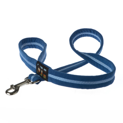Oscar & Hooch Suedette Royal Blue Dog Lead Large