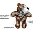 Kong Wild Knots Bears Tough Dog Toy S/m
