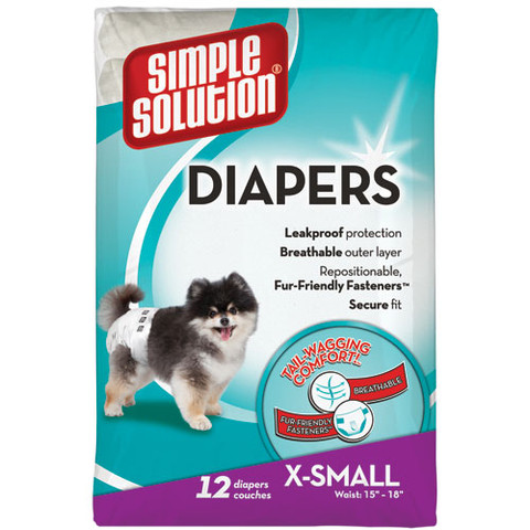 Simple Solution Disposable Dog Diapers X Small
