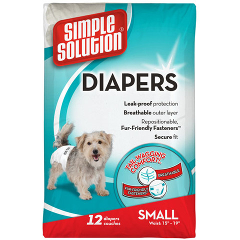 Simple Solution Disposable Dog Diapers Small