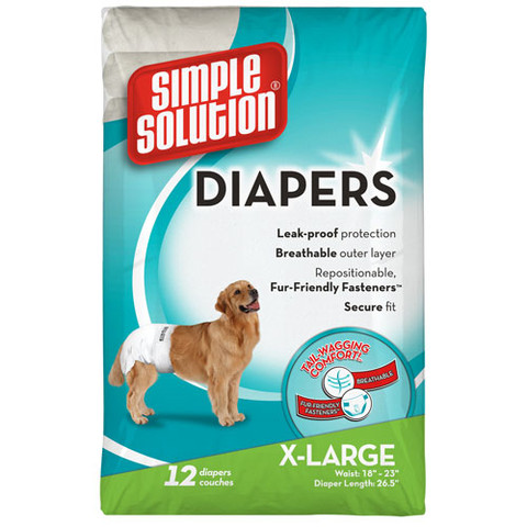 Simple Solution Disposable Dog Diapers X Large